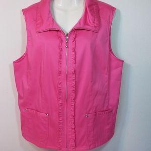 Christopher & Banks Pink Cotton Vest